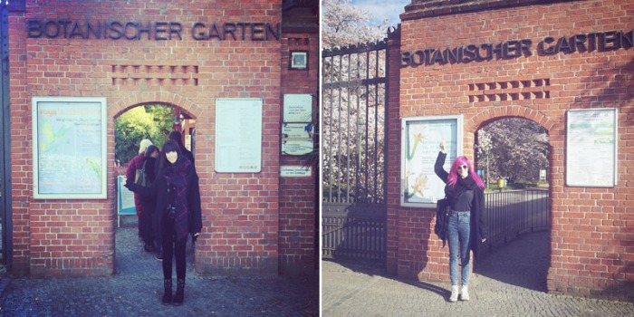 Vickie im Botanischen Garten...Gestern vs. ein halbes Jahr zuvor...